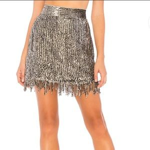 NEW X by NBD REVOLVE Xavi Embellished Sequin Skirt